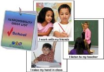 School Responsibility Flash Cards